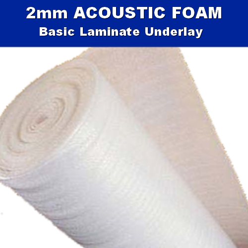 2mm Acoustic White Foam Laminate Wood Underlay - 15m2