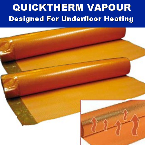 2mm Quicktherm Underfloor Heating Laminate Wood Underlay 10m2