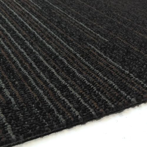 Astor Stripe Grey Blue 1m Long Carpet Tiles 5m2
