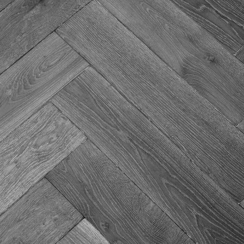 Vintage Herringbone Dark Grey 12mm