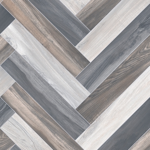 Ftw Herringbone Cushion Floor Brown Grey Flooring