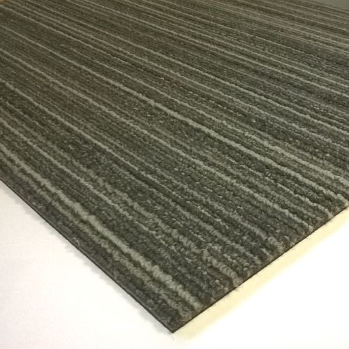 TAURUS Stripe Light Grey Commercial Carpet Tiles 5m2