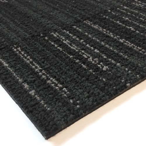 TESSERA Special Stripe Charcoal Grey Commercial Carpet Tiles 3m2
