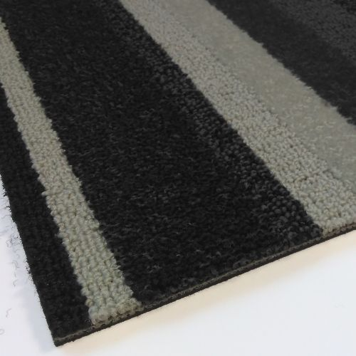 Modulyss Random Stripe Dark Grey Carpet Tiles 5m2