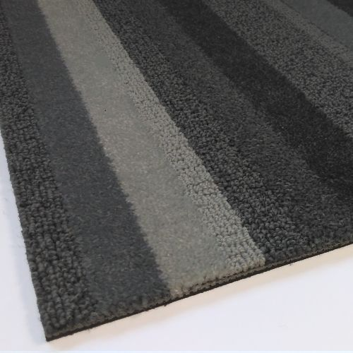 Modulyss Random Stripe Light Grey Carpet Tiles 5m2