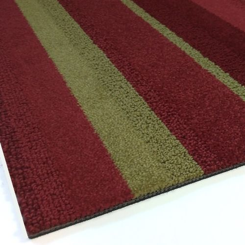 Modulyss Random Stripe Red Gold Carpet Tiles 5m2