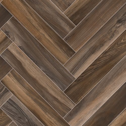 FTW Herringbone Cushion Floor - Dark Brown