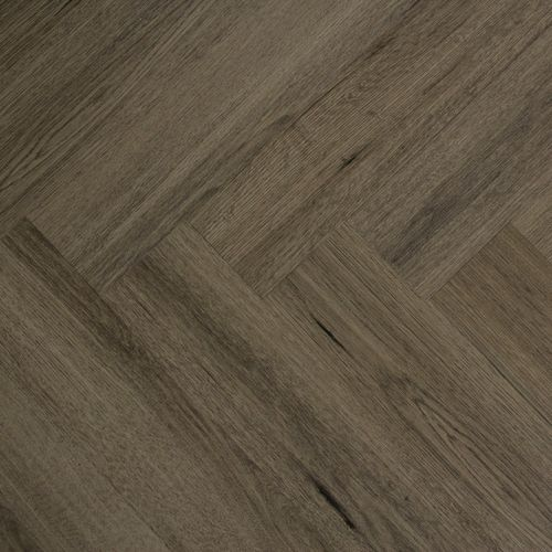 FIRMFIT Rigid Herringbone - Burnt Brown Grey Oak 2.27m2